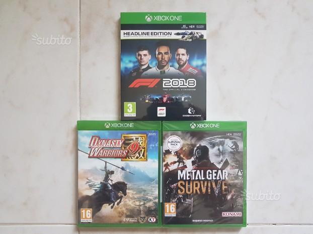 F1 2018,Metal gear survive,Dynasty warrio 9 Xbox o