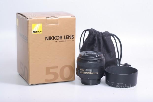 Obiettivo nikon af-s 50 mm f/1.4 g. garanzia