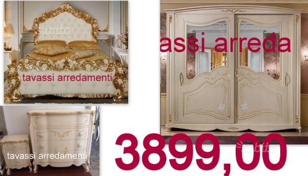 Camera da letto caravaggio stile classico barocco