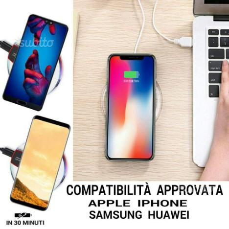 Caricatore Qi Wireless Samsung iPhone Huawei