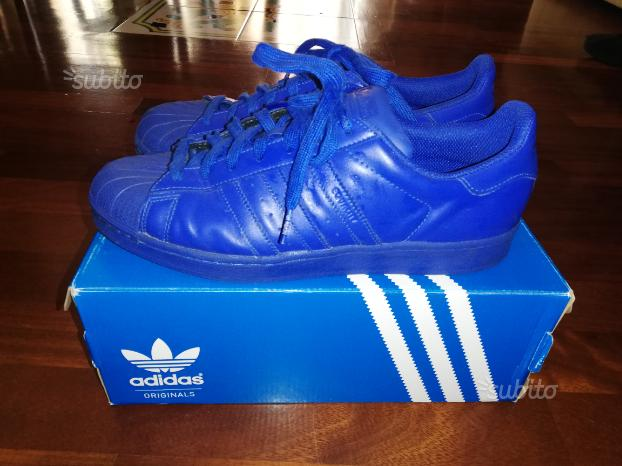 Adidas superstar blu come nuove
