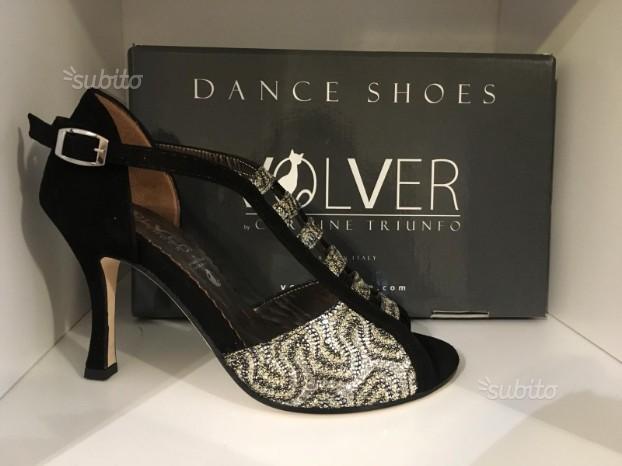 Scarpe da ballo nera camoscio