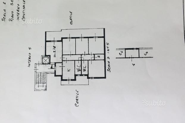 Zona ospedaliera - 4 vani con box 2 p. auto