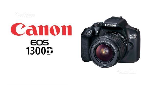 Nuova canon eos 1300d kit 2 obiettivi