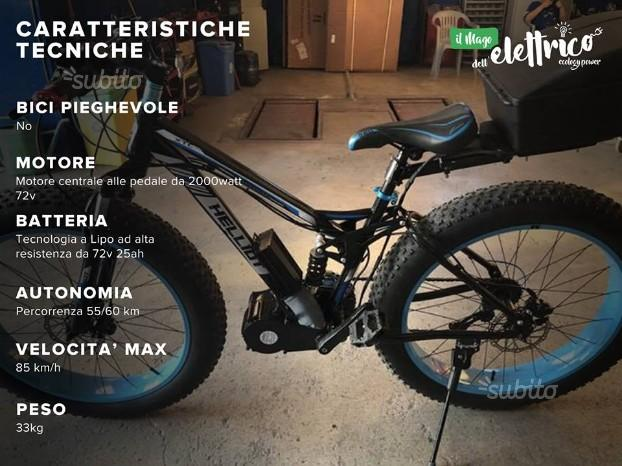 Fat Bike con pedalata assistita 2000watt 72v