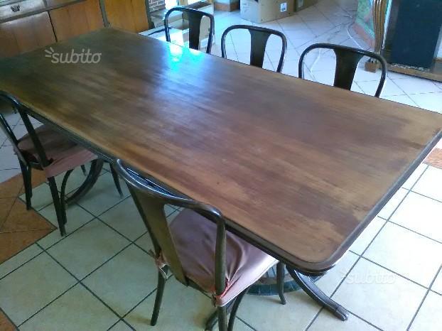 Tavolo di rappresentaza in mogano 2,25 x 1,00