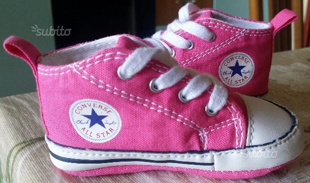 Scarpa,scarpe converse all star,rosa,taglia 18