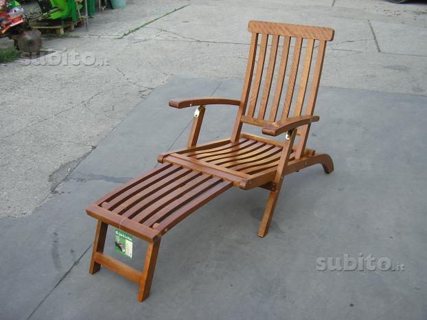 Sedia a sdraio in legno pieghevole da giardino