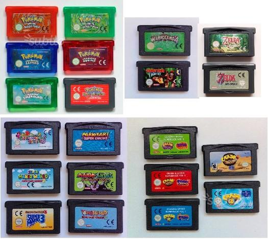 GBA vari giochi ed accessori - ORIGINALI