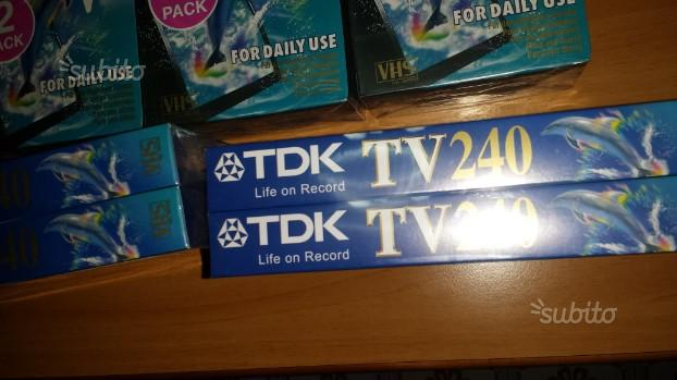 VHS videocassette nuove