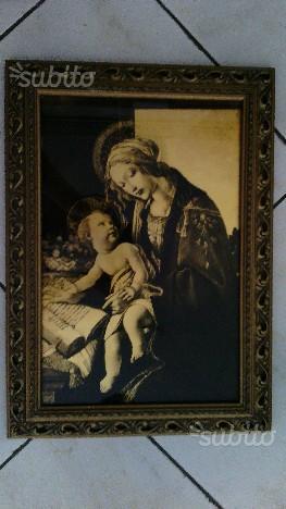 Antico quadro anni 40-50 Madonna con libro