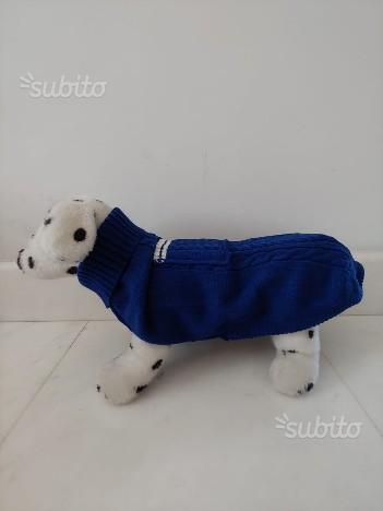 Maglioncino con tasca Blu per cane