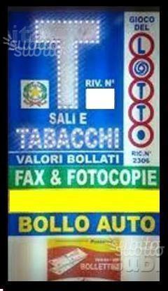 Tabaccheria lotto 10&lotto gratta vinci self 24