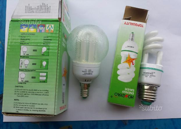 100 Lampadine a risparmio energetico