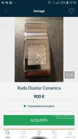 Orologio Rado Diastar in ceramica