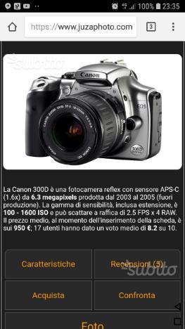 Macchina fotografica canon obiettivo ultrasonic