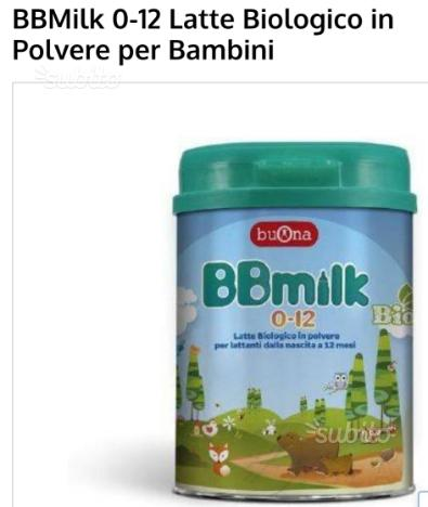 Latte per neonato 0 a 12 bbmilk