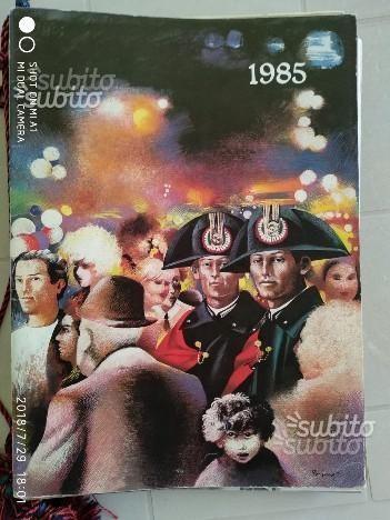 Calendario Arma dei Carabinieri 1985