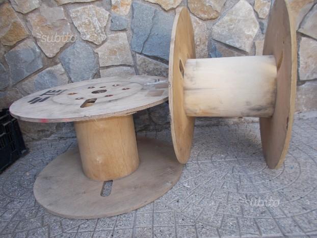3 bobine in legno compensato cavo rocchettoni