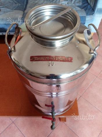 Bidone di acciaio inossidabile 50 litri per olio