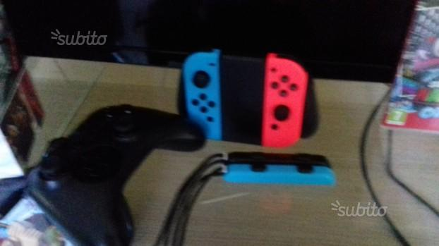 Nintendo switch con accessori