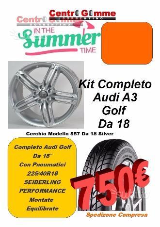 Cerchi In Lega Audi A3 Golf + Pneumatici 18 Spedit
