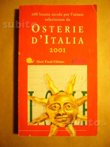 Libro slow food osterie