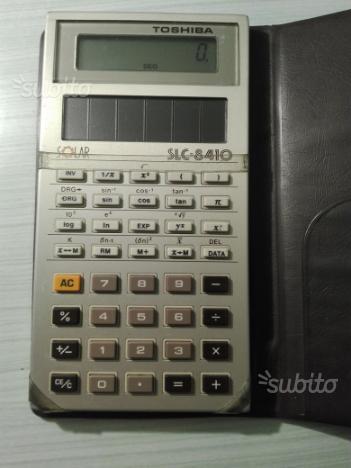 Calcolatrice scientifica solare Toshiba anni 80