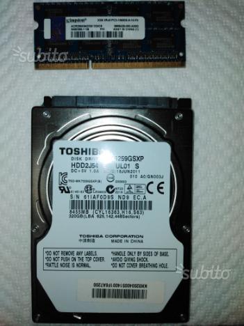 Hard disk 320Gb + Ram 2Gb