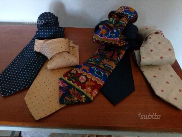 Cravatte n.13 di pura seta e lana