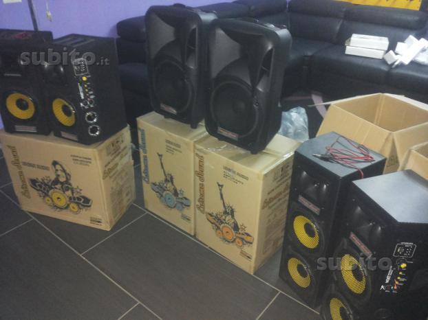 Casse amplificate impianto karaoke