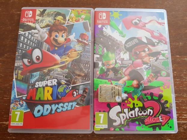 Splatoon2 e superMario Odyssey Nintendo switch