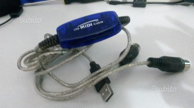 CAVETTO USB MIDI PER usare MIDI da fonti esterne