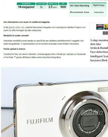 Fotocamera Digitale Fujifilm Jv500 14mb