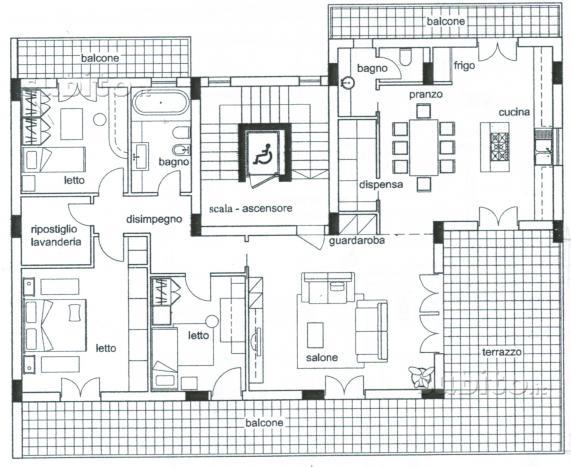 Appartamento mansardato 130 mq nuova costruzione
