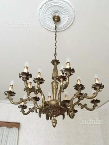 Lampadario in bronzo 16 luci