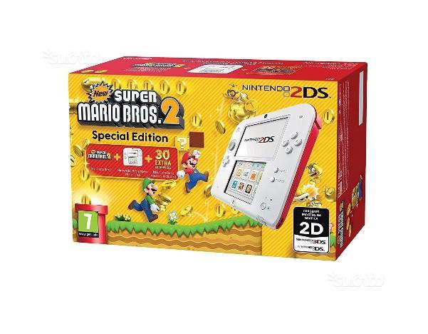 Nintendo 2DS Console, Bianco e Rosso + New Super M