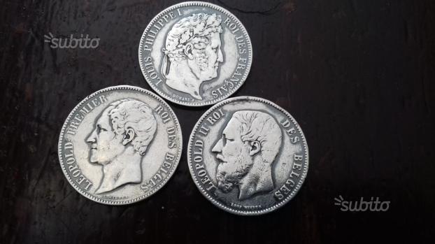 Tre monete argento anno 1841 1850 1872
