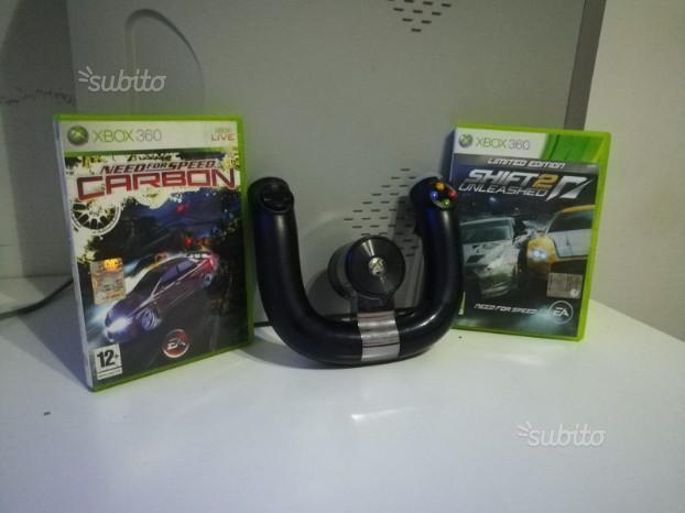 Pad controller xbox 360 car + 2 giochi