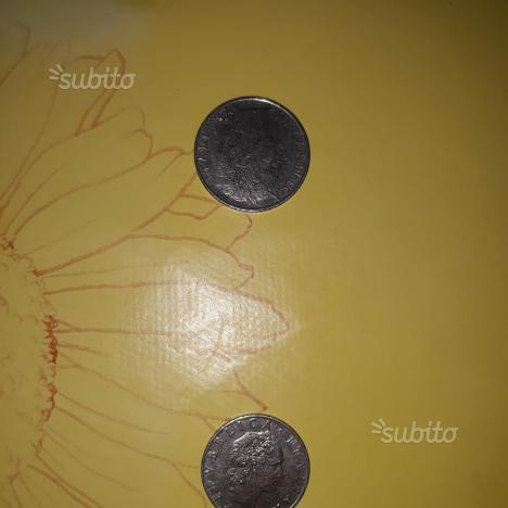 100 lira del 1964 50 lira del 1956