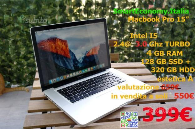 """Apple Macbook Pro 15"""" i5 SSD SmartEconomy"""