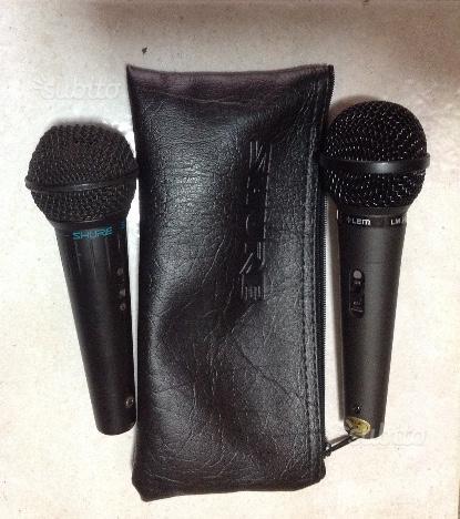 N.2 microfoni prof.li shure bg3.0 lem lm20