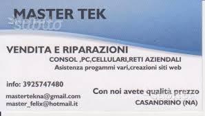 Master tek vendita assistenza tecnica elettronica