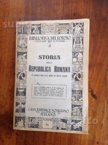 Storia della Repubblica Romana da Romolo fino