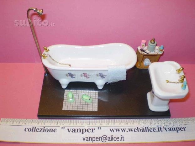 Diorama stanza bagno ceramica,vanper