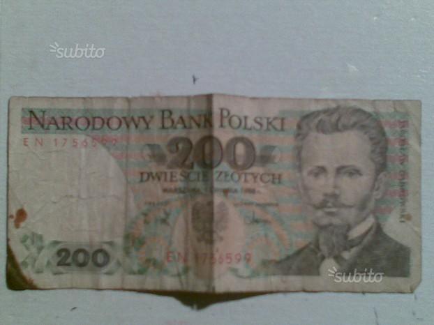 Banconota da 200 dwiescie