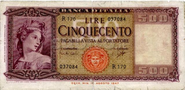500 Lire Ornata di spighe R170 037084 (rara)