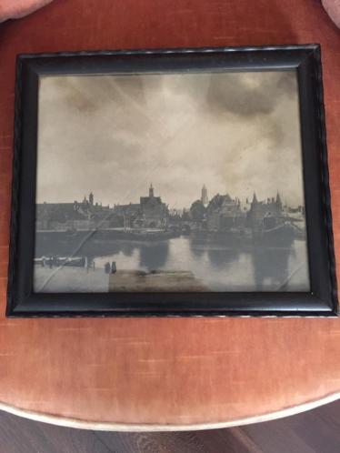 Oude ingelijste foto van Dordrecht