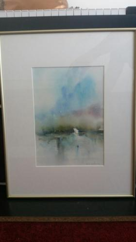 2x aquarel Willie van Haart