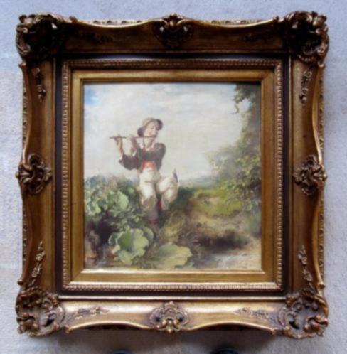 ==Gustav Eyer 1887-1946==fluitspelende jongen in landschap==